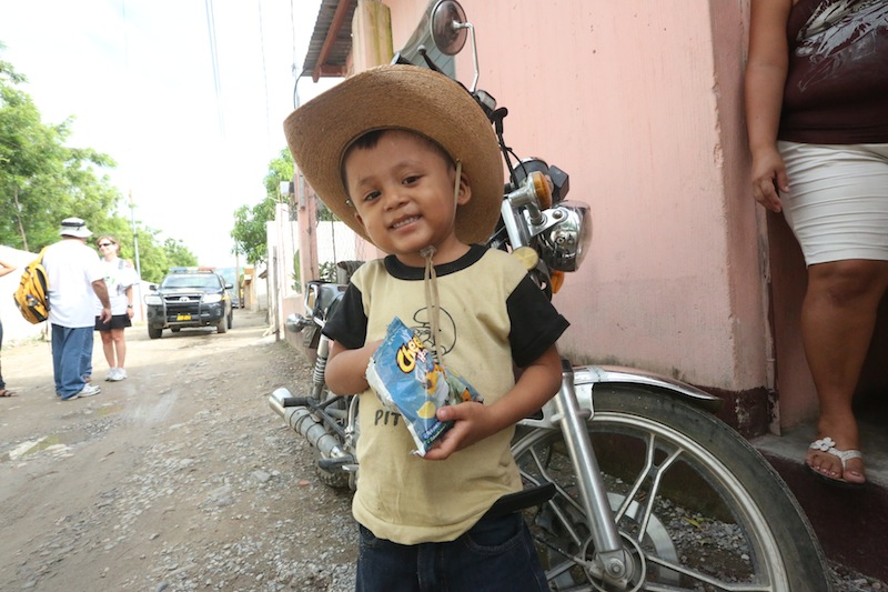 Awesome kid with cowboy hat